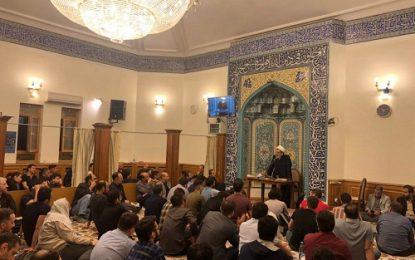 برگزاری مراسم احیای شب بیست و سوم ماه رمضان در مسجد خاتم الانبیاء مسکو / تصاویر