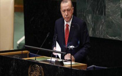 اردوغان در نشست مجمع عمومی سازمان ملل متحد: قطعنامههای سازمان ملل علیه رژیم صهیونیستی اجرا شود