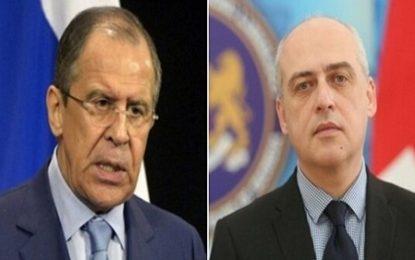 دیدار وزرای خارجه روسیه و گرجستان در نیویورک