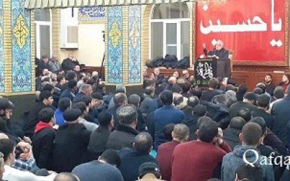 برگزاری مراسم عزاداری سالروز شهادت ام ابیها در جمهوری آذربایجان / فیلم