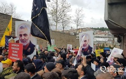 تظاهرات مردم ترکیه در واکنش به ترور سردار سلیمانی / فیلم