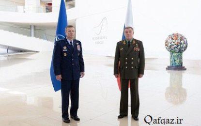دیدار رییس ستاد ارتش روسیه با یک فرمانده ناتو در باکو