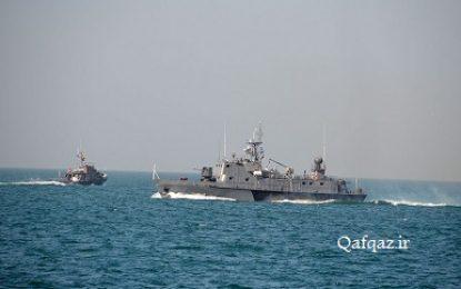برگزاری رزمایش نیروی دریایی جمهوری آذربایجان در دریای خزر / تصاویر