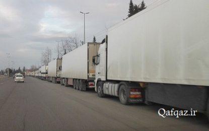 معطلی کامیونهای ترانزیتی در مرز ایران با جمهوری آذربایجان