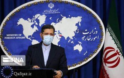 سخنگوی وزارت امور خارجه: اجازه استفاده از خاک ایران برای انتقال سلاح را نمیدهیم
