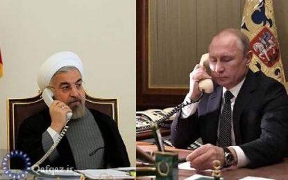 استقبال رئیس جمهور ایران از آتش بس در قره باغ در تماس تلفنی با همتای روس خود