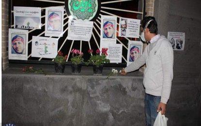 گرامی داشت شهادت سرباز حسینی آذربایجان از سوی مردم تبریز / عکس
