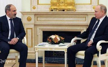 مذاکرات پوتین و پاشینیان در مسکو