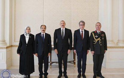 دیدار سفیر جدید ترکیه با الهام علی اف