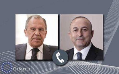 محکومیت اخراج فلسطینیان از منازل خود در گفتگوی تلفنی وزرای خارجه روسیه و ترکیه