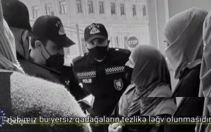 تجمع بانوان زینبی جمهوری آذربایجان در اعتراض به ممنوعیت حجاب در اسناد هویتی / فیلم