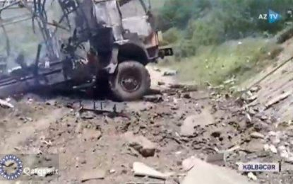 کشته و زخمی شدن اعضای گروه مستندساز جمهوری آذربایجان بر اثر انفجار مین