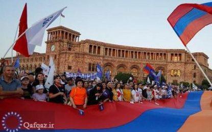 راهپیمایی اعتراضی حامیان اپوزیسیون در ارمنستان