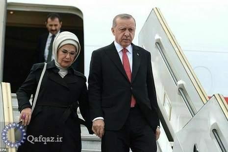 رئیس جمهور ترکیه وارد باکو شد