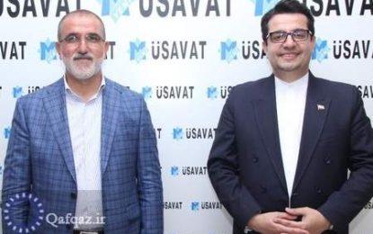 دیدار سفیر ایران در باکو با مدیر گروه مطبوعاتی ینی مساوات