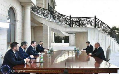 دیدار وزیر امور خارجه صربستان با رئیس جمهوری آذربایجان