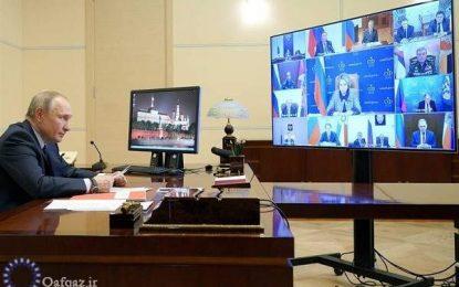 نشست پوتین و اعضای شورای امنیت روسیه برای بررسی اوضاع افغانستان و قره باغ