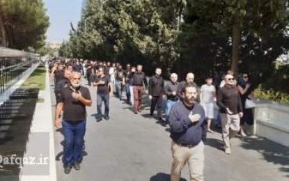 برغم ممنوعیت ،عزاداری خیابانی « جمعیت دینی جمعه» در خیابان شهدای باکو/تصاویر