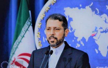 سخنگوی وزارت امور خارجه: ایران حضور رژیم صهیونیستی در نزدیکی مرزهای خود را تحمل نخواهد کرد