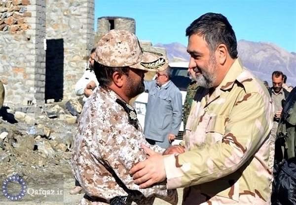 بازدید سردار اشتری از نقطه صفر مرزی ایران و جمهوری آذربایجان