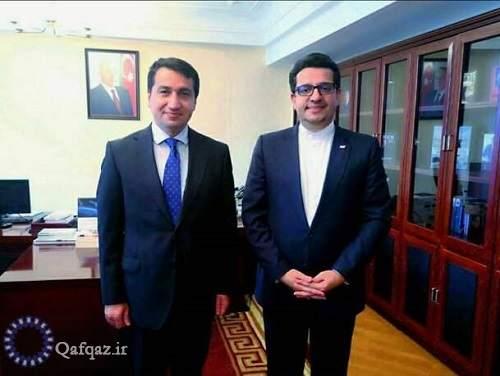 دیدار حکمت حاجی اف و سفیر ایران در باکو