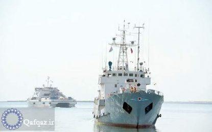 کشتی های نظامی روسیه به آب های جمهوری آذربایجان وارد شدند
