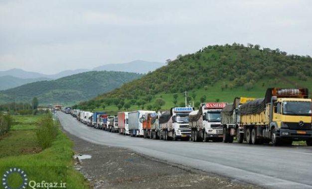 سازمان راهداری و حمل و نقل جاده ای؛ ورود کامیون های ایرانی به قره باغ ممنوع شد